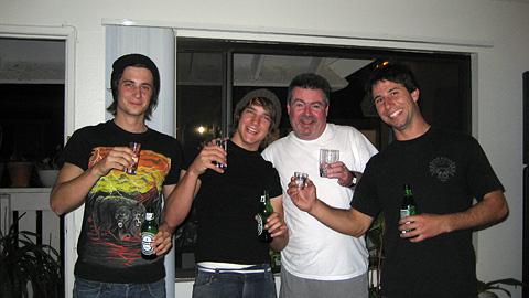 Me, Bob, Jerry the neighbor and Arrash.