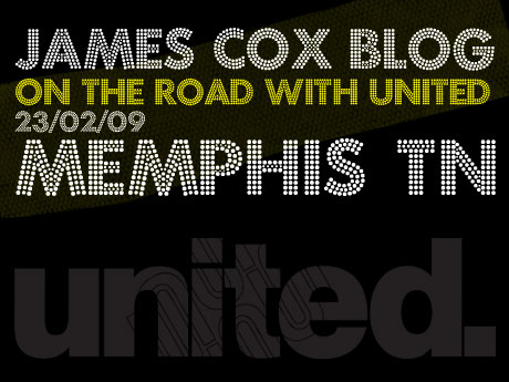 JAMES COX BLOG: ON THE ROAD WITH UNITED 23.02.09