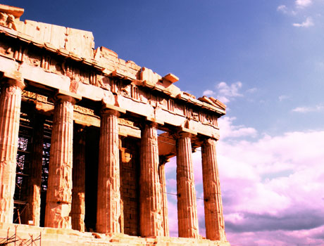 The acropolis, or 'apocolypse' as Cleggy calls it...