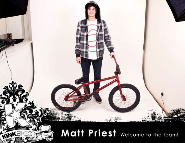 Kink welcomes Matt Priest to the Team