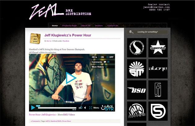 ZEAL BMX Site
