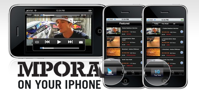 Mpora videos on your iPhone