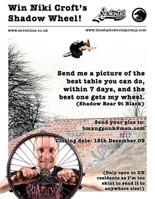Win Niki Croft's Shadow Wheel!
