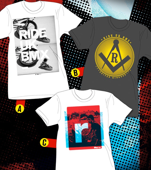 New Ride UK T-shirts – vote and win now.