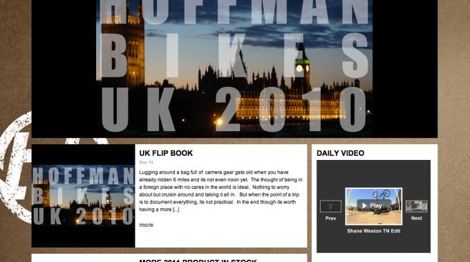 New Hoffman Bikes Website