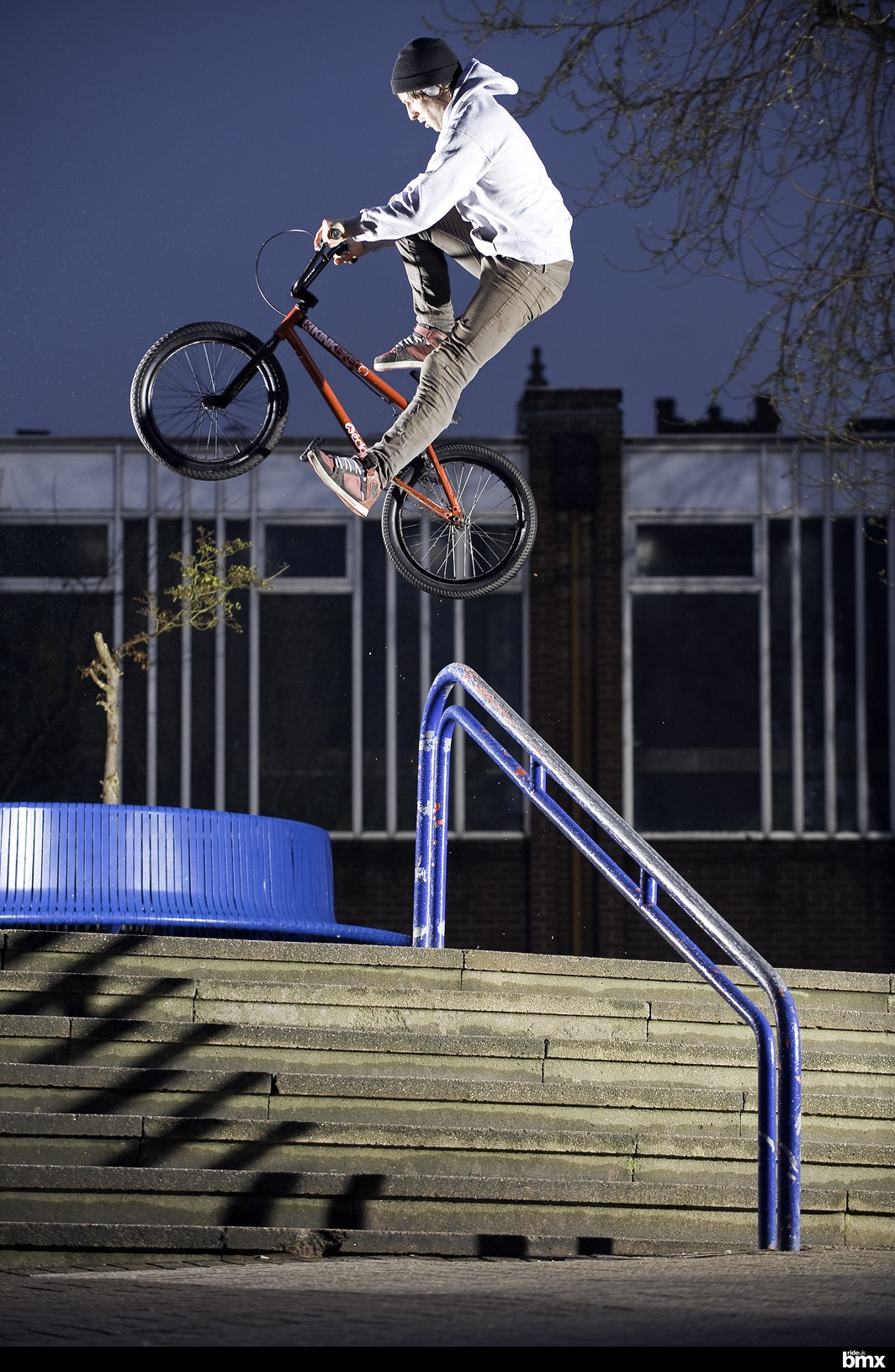 """Pegs to hardway 180 crankflip at """"those rails"""" in WZA..."""