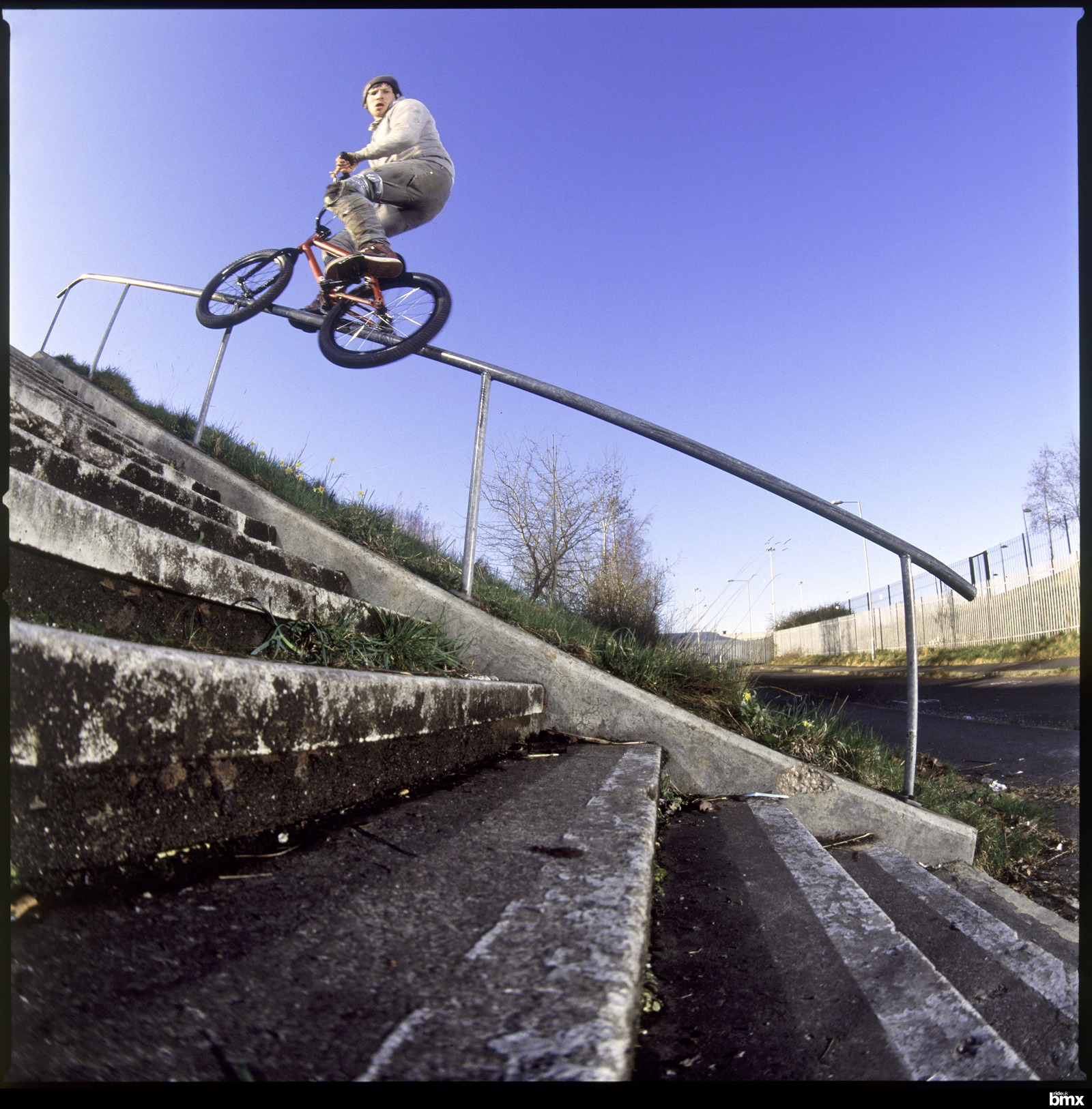 18 stair backwards rail to cab off the end. Philly D is a badman!