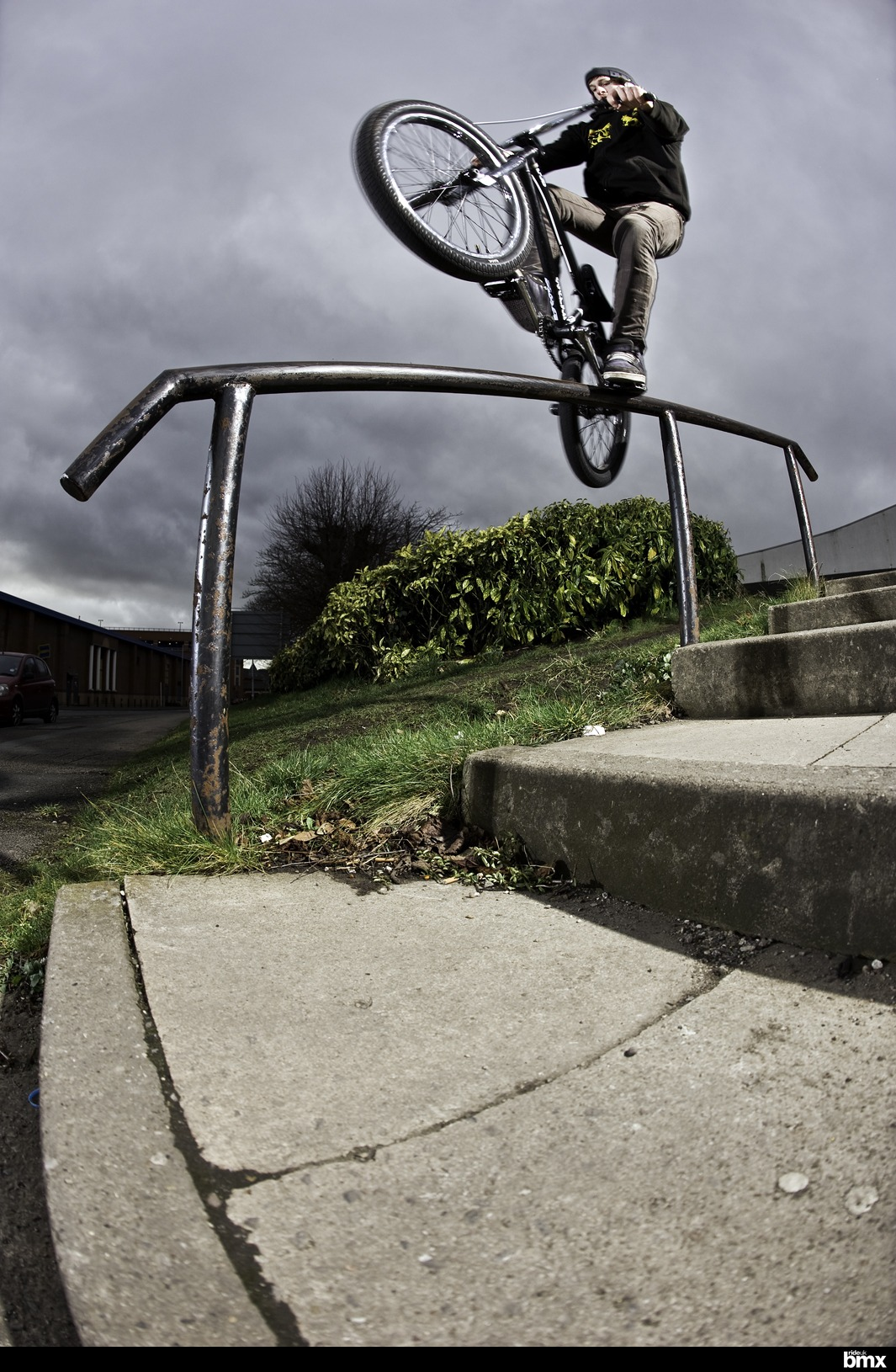 This was the first over to Levitator grind Phil had ever pulled on street. NBD Wrexham style...