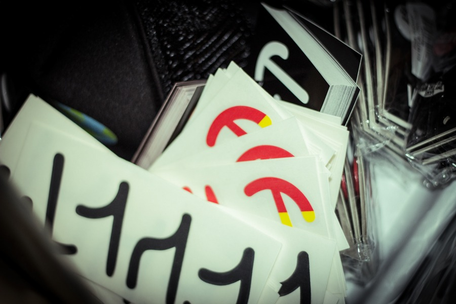 Enough Cult stickers...