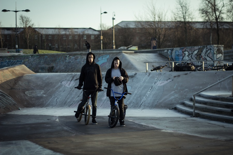 Dan Lacey and AK, ledge session in the ice...