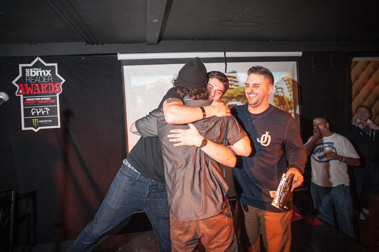 Big bro hug for Benny L.