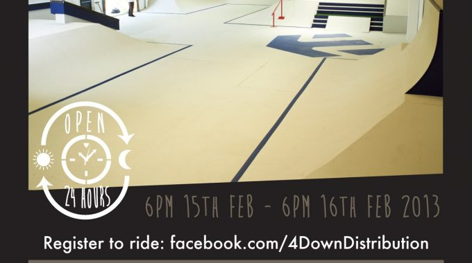 Twenty-Four Down. A 24 hour BMX & Skate-a-thon
