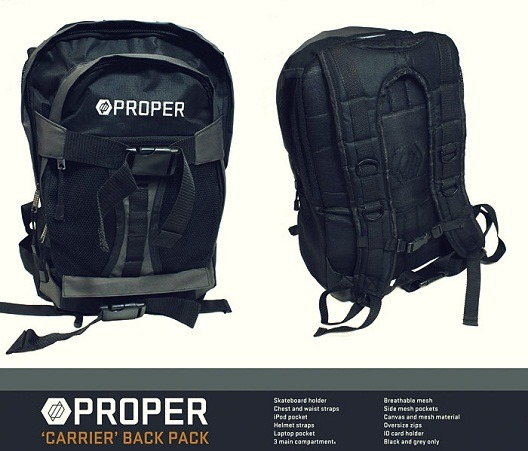 Proper – Raw Trawlerman frame and Carrier backpack.