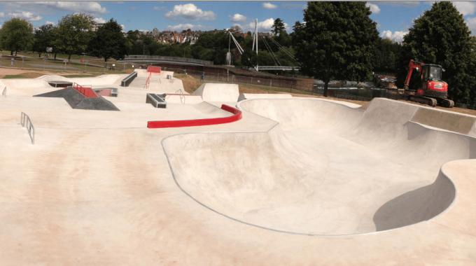 Exeter New Flowerpots Skatepark Opens Today 2 PM!!!