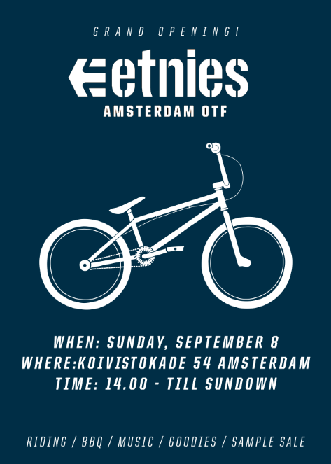 ETNIES OPENS BMX PARK NEXT TO IT'S EMEA HEADOFFICE IN AMSTERDAM