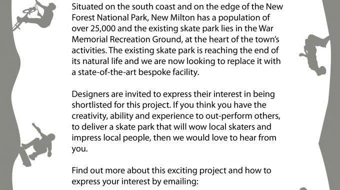 Creative Skatepark Designers Required, New Milton, Hampshire