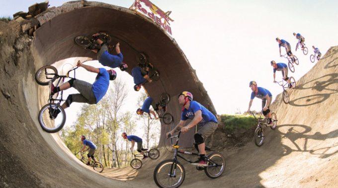 Watch Mike 'Hucker' Clark send a full BMX Loop