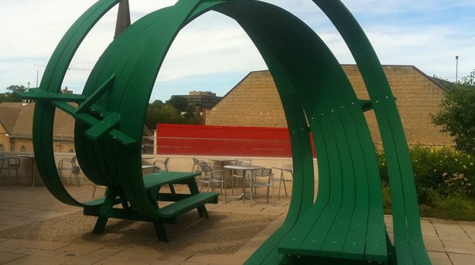 Vertical Loop Picnic Table!