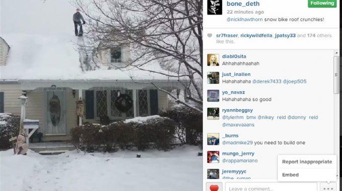 Bone Deth - Snow Bike Roof Drop