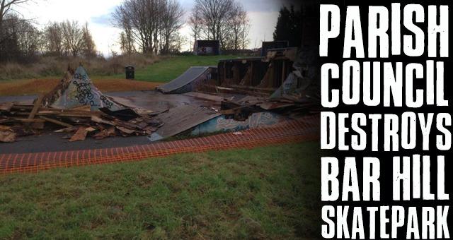 Parish Council Destroys Bar Hill Skatepark