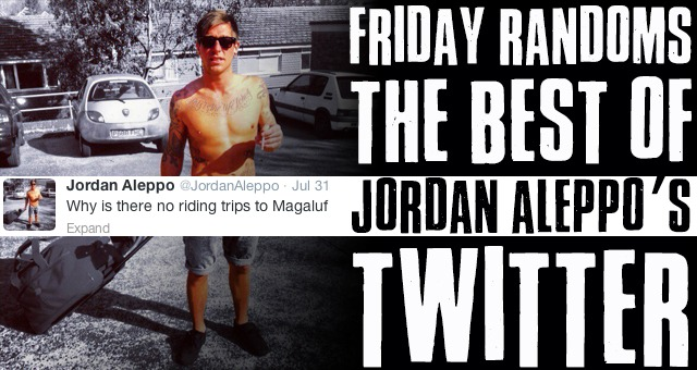 Friday Randoms - The best of Jordan Aleppo's Twitter