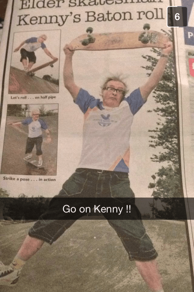 Kenny is on a mish!!