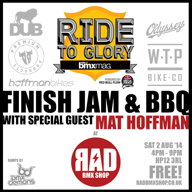 RTG 2014 FINISH JAM & BBQ WITH SPECIAL GUEST: MAT HOFFMAN!!