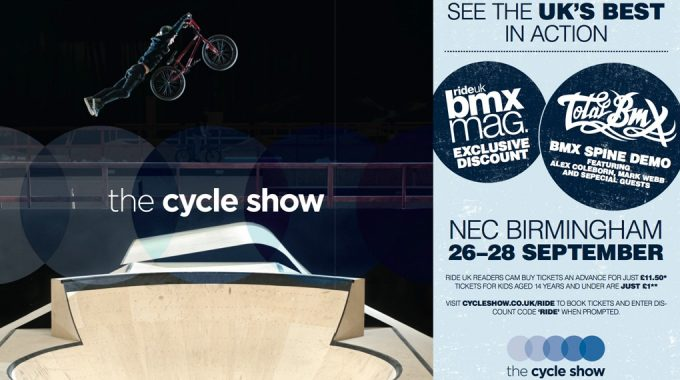 Cycle Show 2014 - RideUKBMX Ticket Discount Code