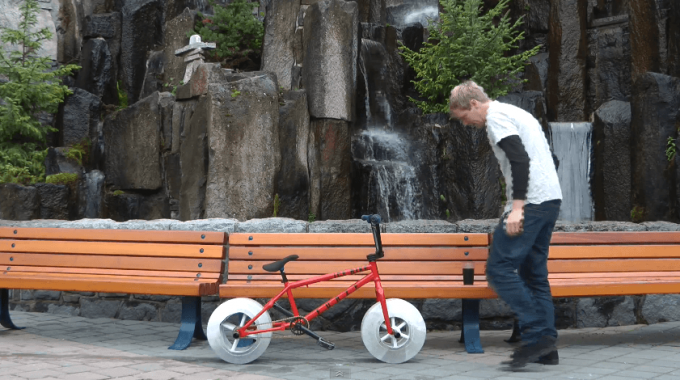 Friday Randoms: The Worlds First Bike With Wheels Made Of ICE