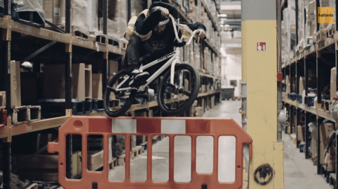 Mongoose Help Out In The Halfords Warehouse