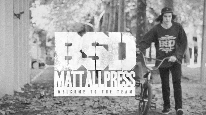 BSD - Matt Allpress - Welcome to the Team