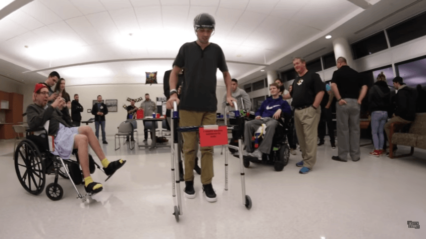 SCOTTY CRANMER: Walking at his Birthday Party