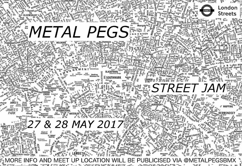 METAL PEGS BMX: London Jam May 2017 – Full Info