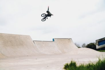 Dean Cueson, flying over the pocket channel.