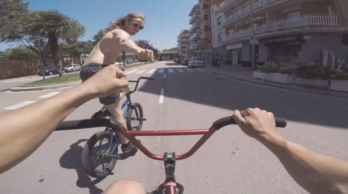 MARTON VARGA: BMX, Sun, Cliffs - Barcelona