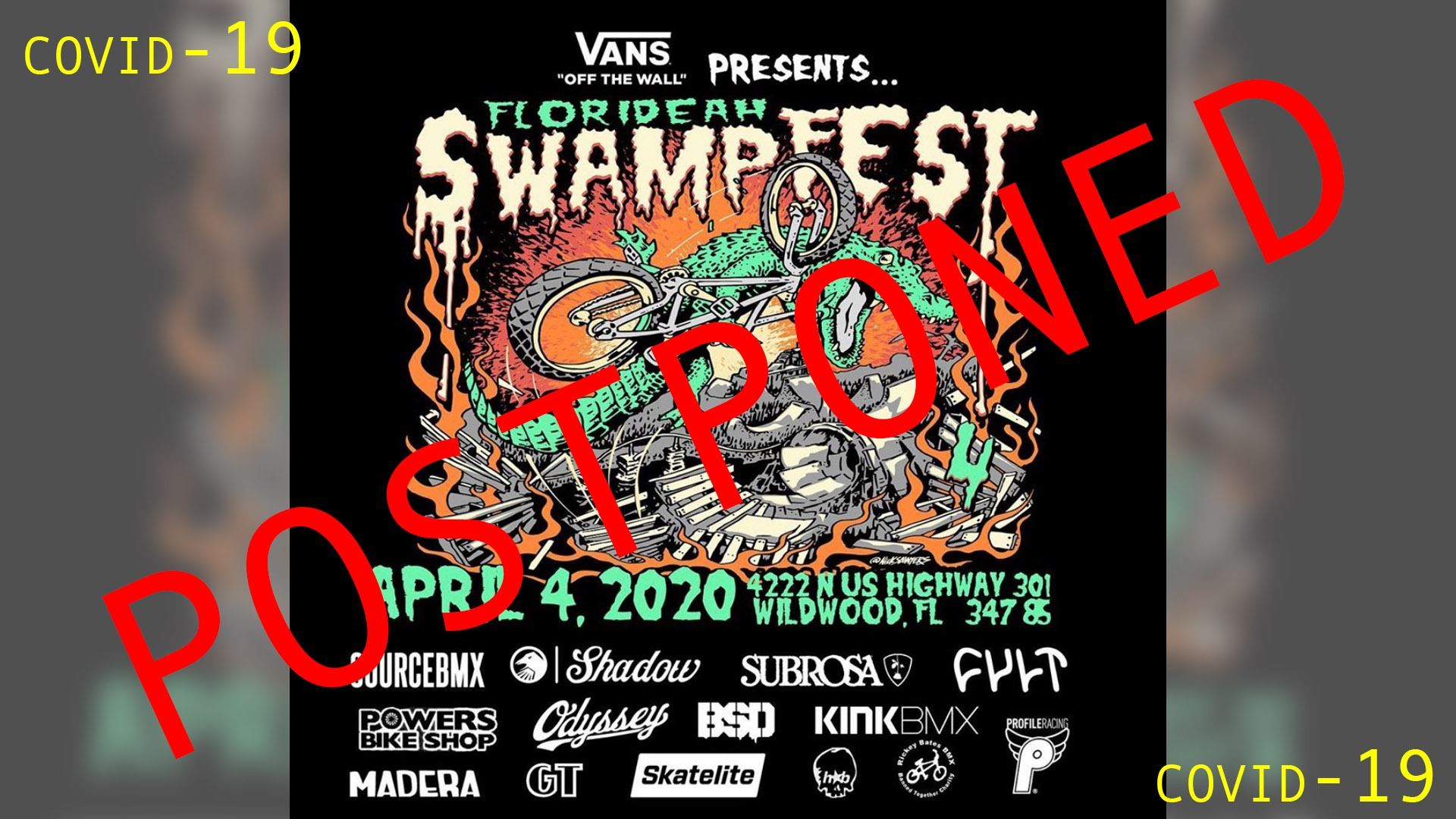 POSTPONED: Florideah Swampfest 2020 - now 23rd May